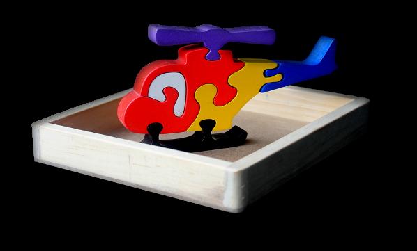 Puzzle satuan 3D Helikopter    mainan-kayu.com b797115a99
