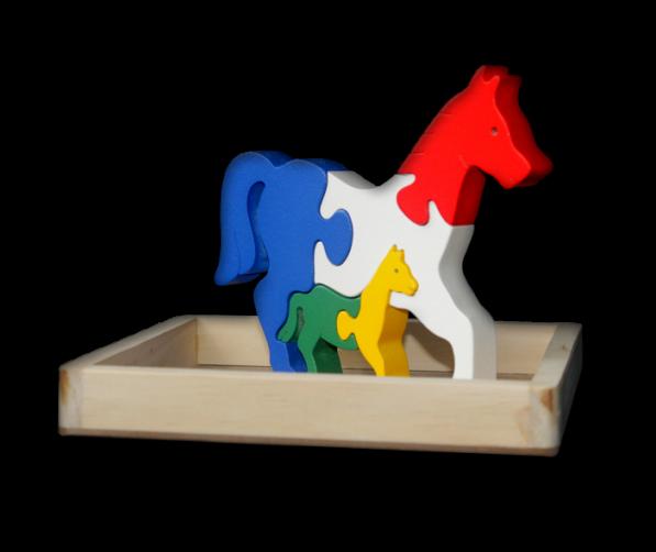 Puzzle satuan 3D Kuda    mainan-kayu.com d013d42016