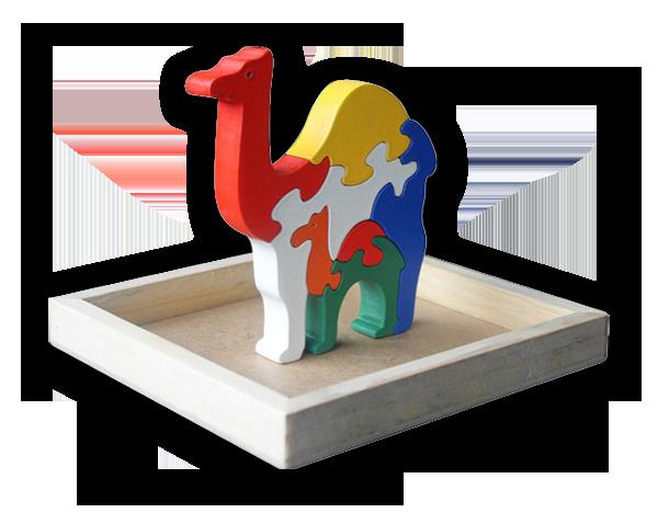 Puzzle satuan 3D Unta    mainan-kayu.com 21f7c9df6a