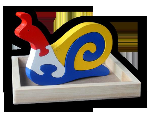 Puzzle satuan 3D Keong    mainan-kayu.com 58bbd35b28