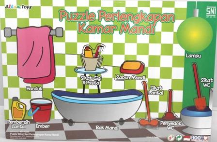Puzzle Stiker Perlengkapan Kamar Mandi Mainan Kayucom