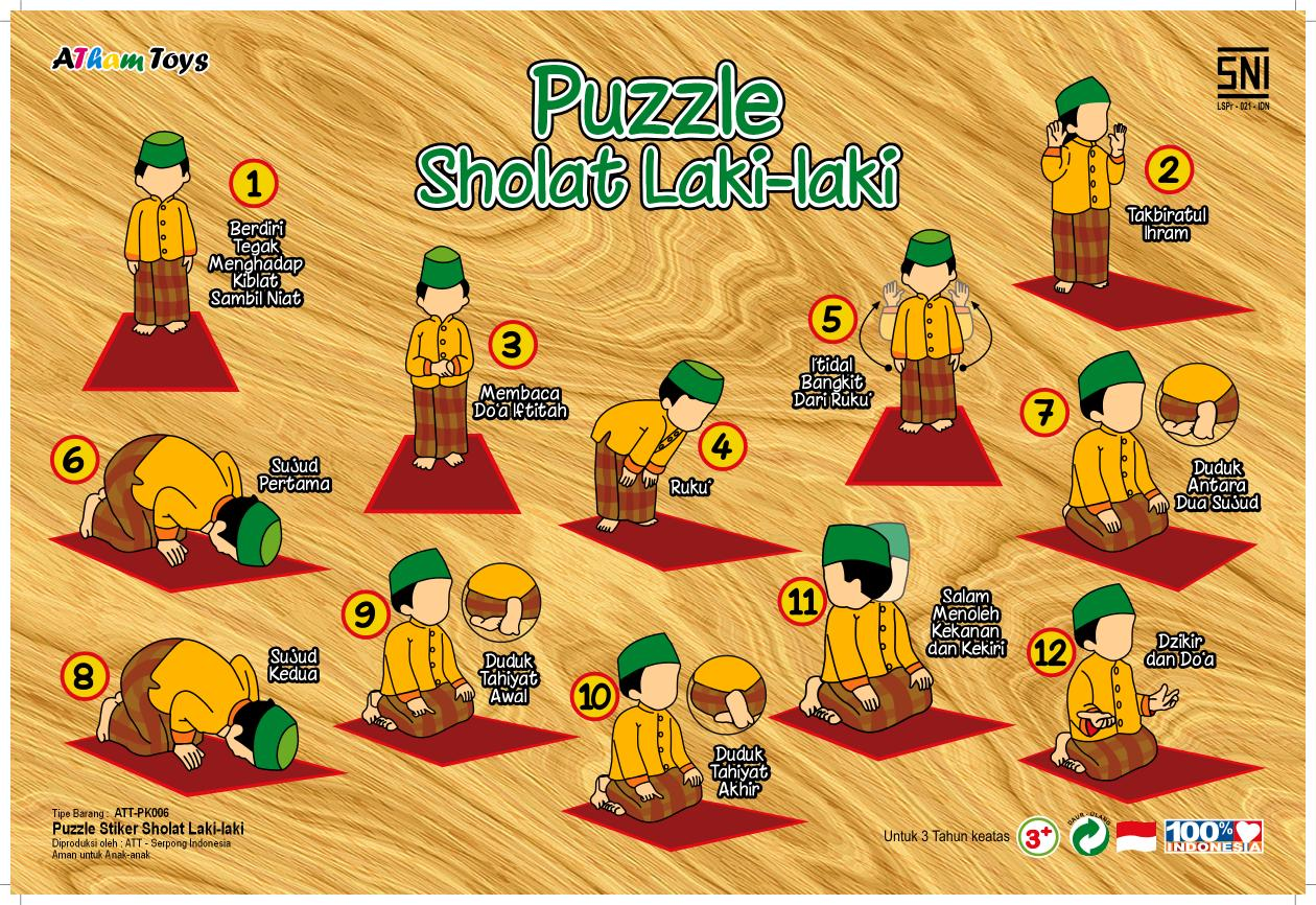 Puzzle Stiker Sholat Lk Mainan Kayucom Kayu Buah Dan Sayur Gambar Lainnya Untuk