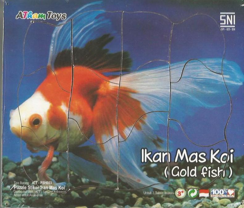 Puzzle Stiker Ikan MAs 17x20 Mainan Kayu