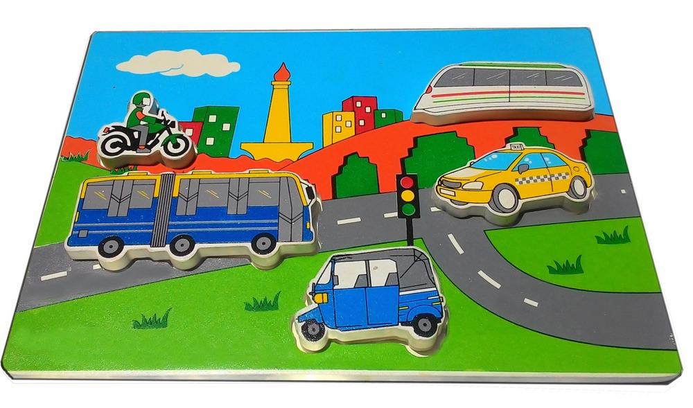 Puzzle Chunky Transportasi Jakarta    mainan-kayu.com d901f0c84b
