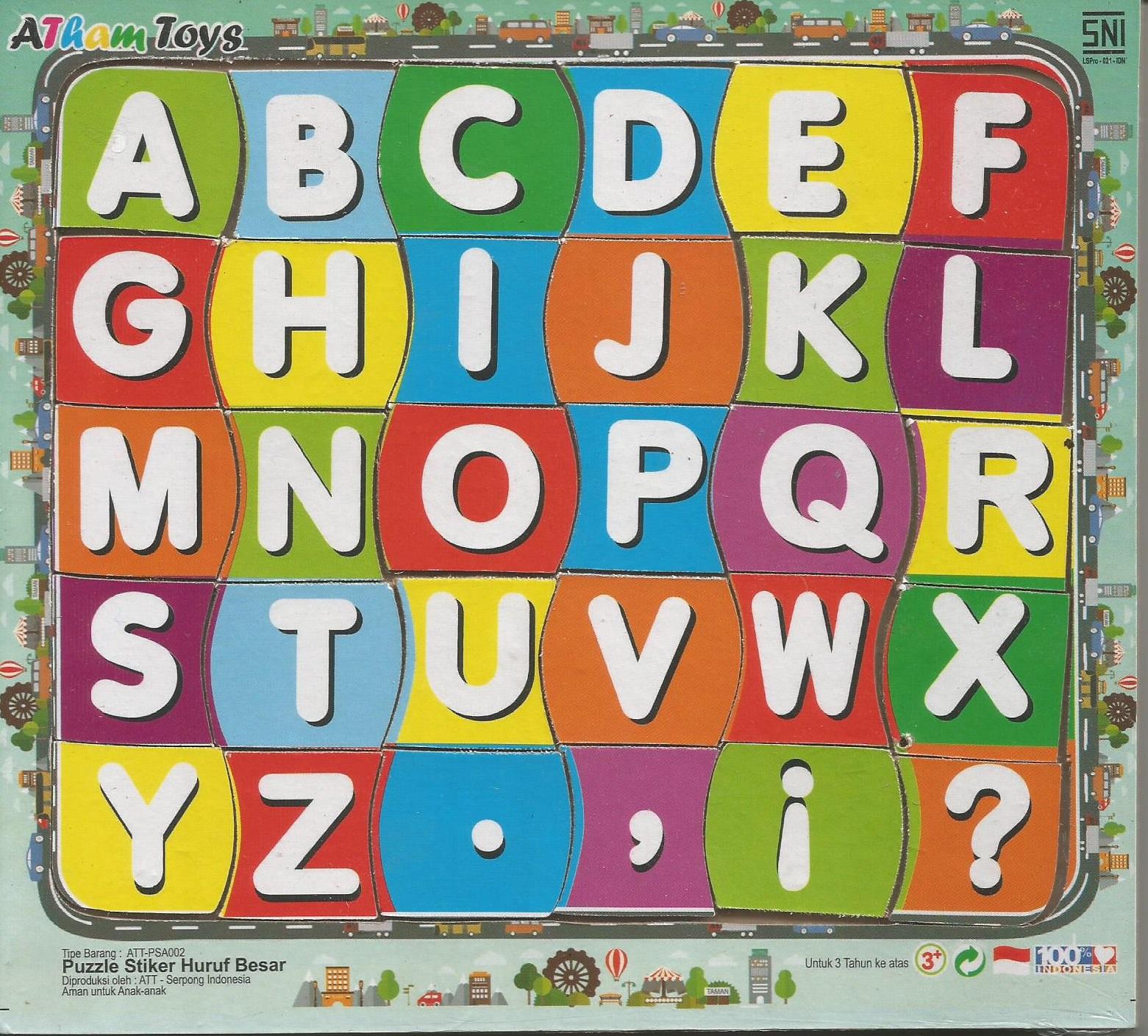 Puzzle Sticker Huruf Besar 17x20 Mainan Kayucom Kayu Stiker Buah Dan Sayur Gambar Lainnya Untuk