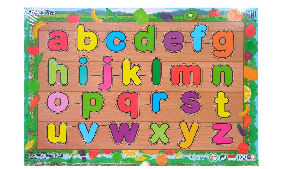 Puzzle Sticker Huruf Kecil