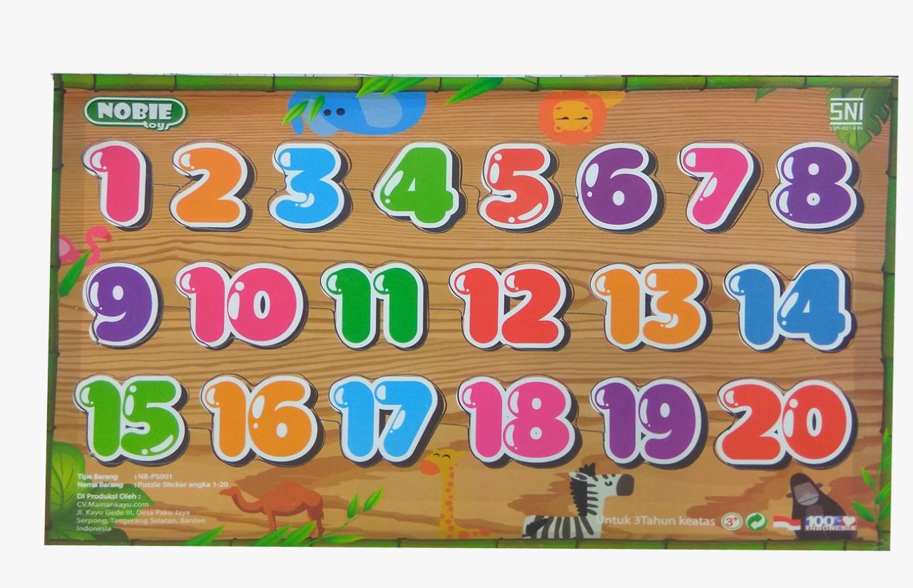 Puzzle Sticker Angka 1-20