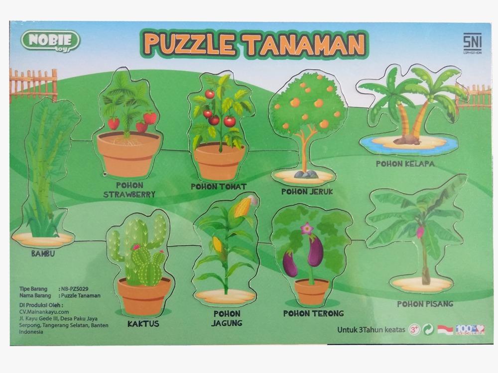 Puzzle Stiker Seri Tanamanku