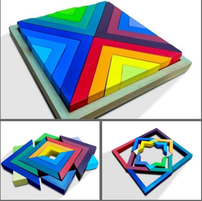 Nobie Balok Multi elemen segitiga