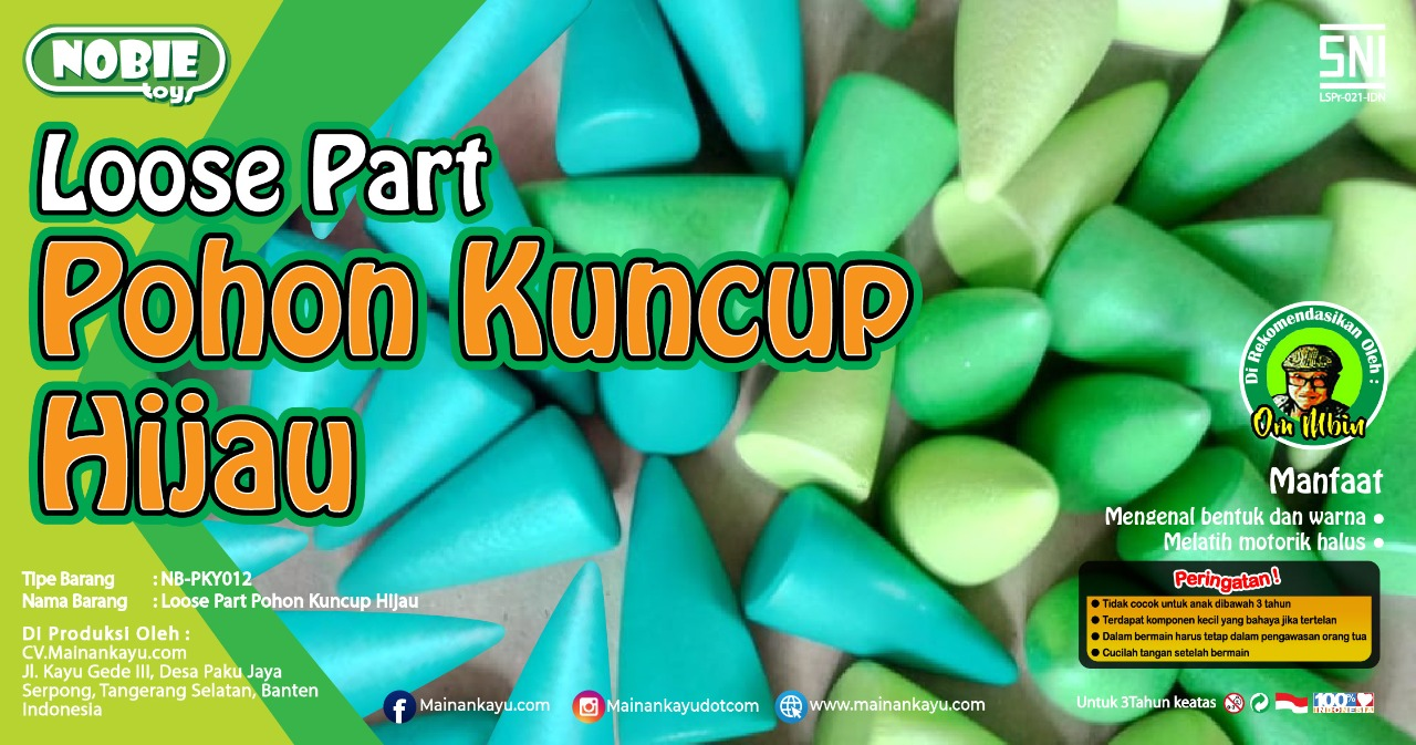 Loose Part Kuncup Hijau