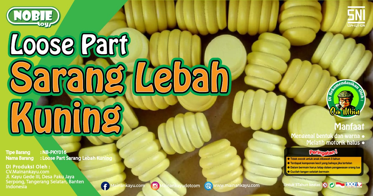 Loose part Sarang Lebah kuning