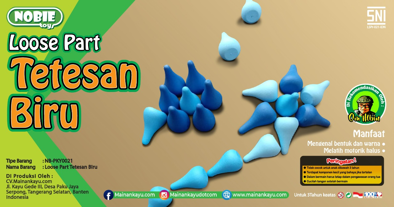 Loose part Tetesan Biru