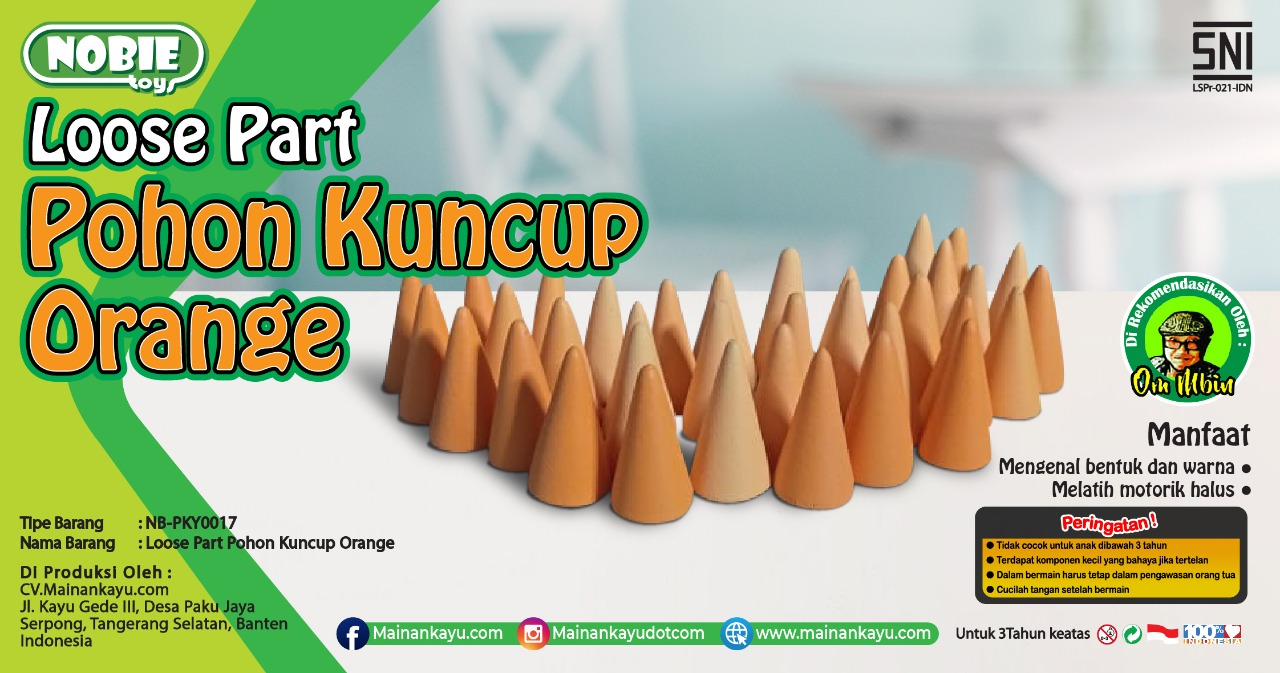 Loose Part Kuncup Orange