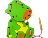Papan Jahit 3D Kuda Nil