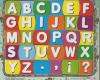 Puzzle sticker huruf besar 17x20
