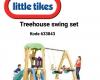 Litle tikes seluncur rumah pohon dan ayunan